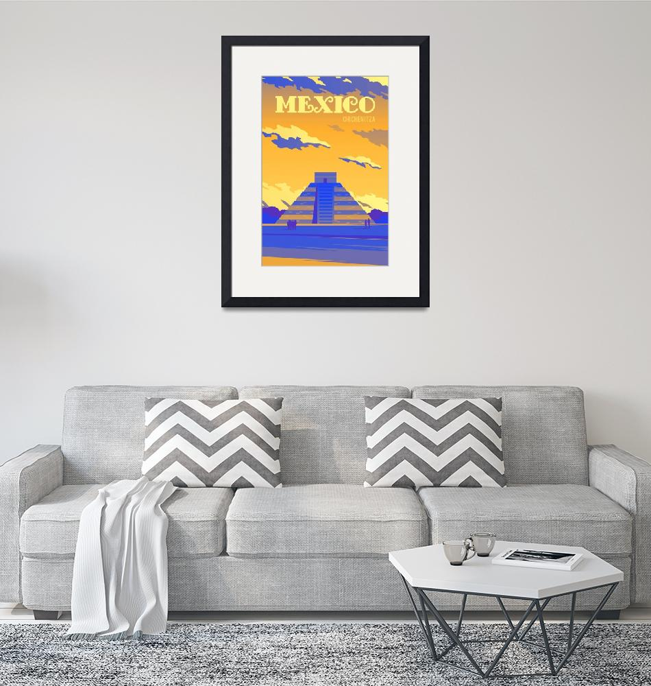 """""""Travel Poster of Mexico 162"""" by Arpina"""