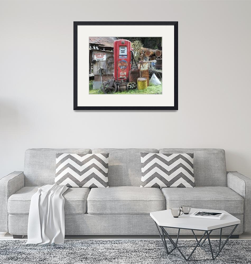 """""""Old Chevron Gas Pump""""  (2012) by ClotheslineArt"""