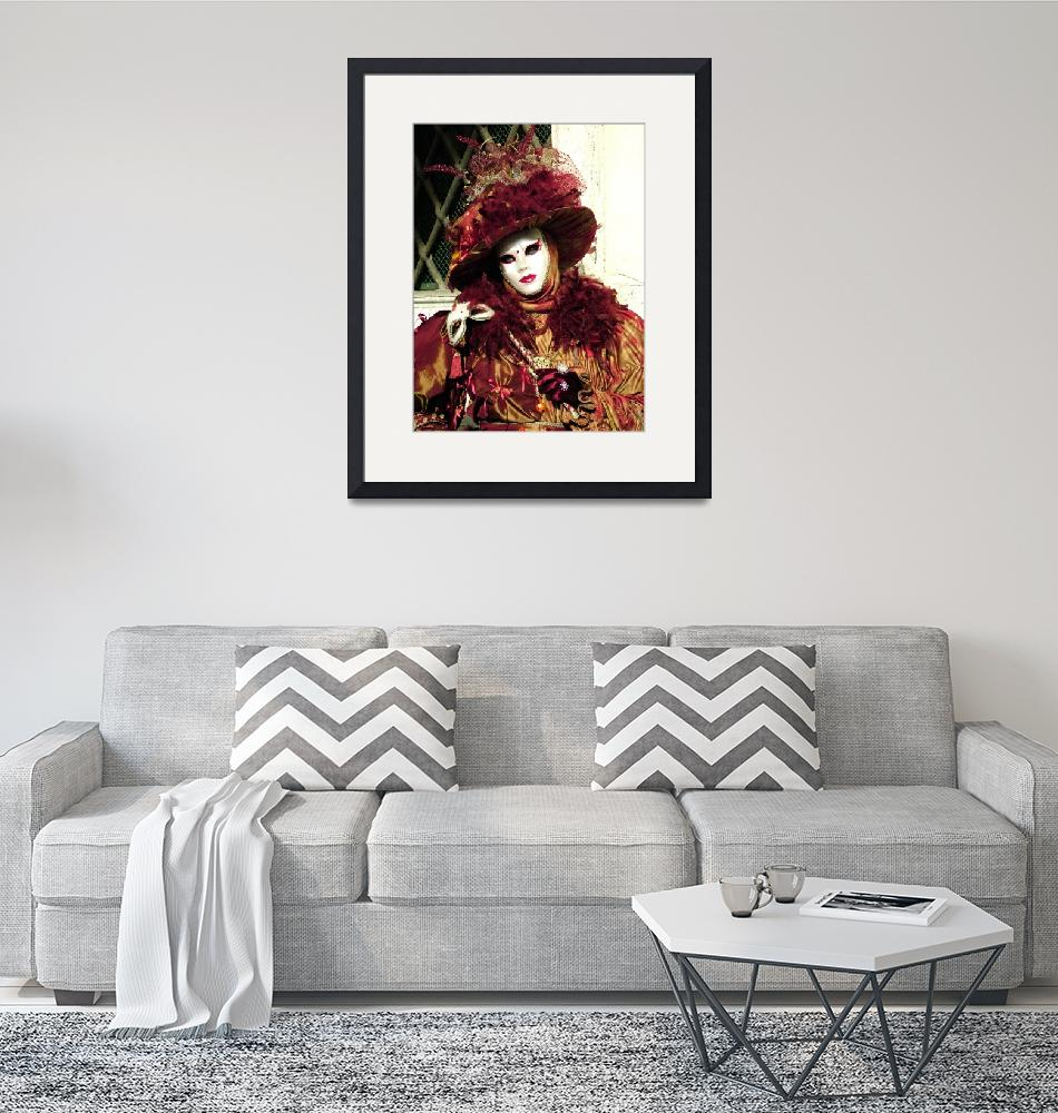 """""""Burgandy Feathered Lady 2""""  (2006) by DonnaCorless"""