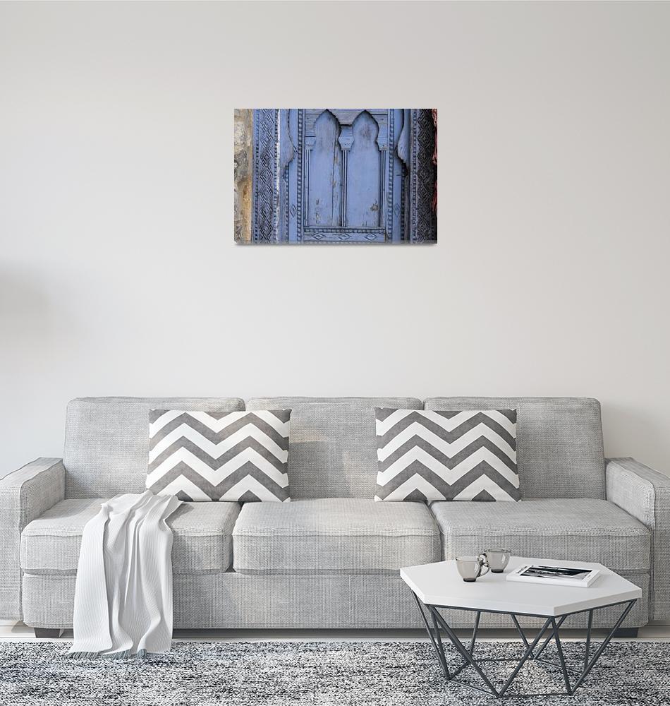 """Window Detail, Chefchouen""  (2020) by SederquistPhotography"