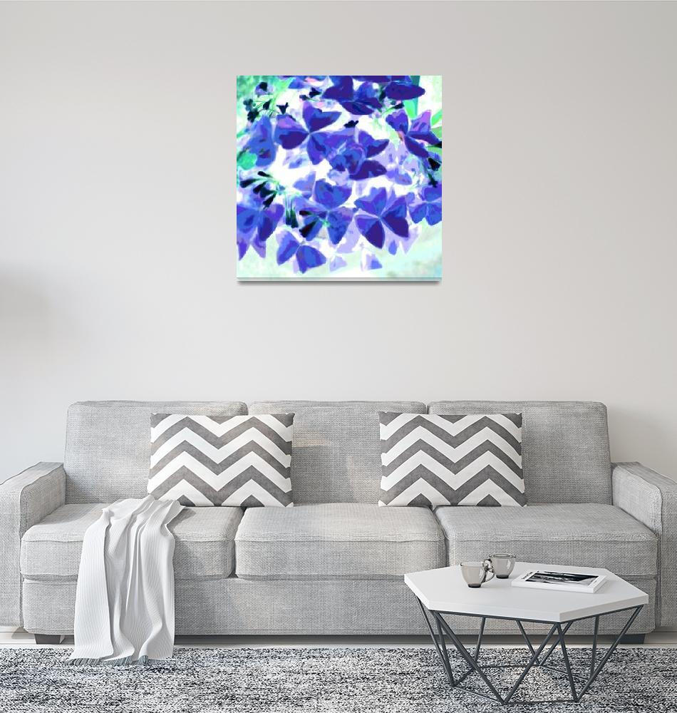 """Blue Green White Plant""  (2009) by LeslieTillmann"