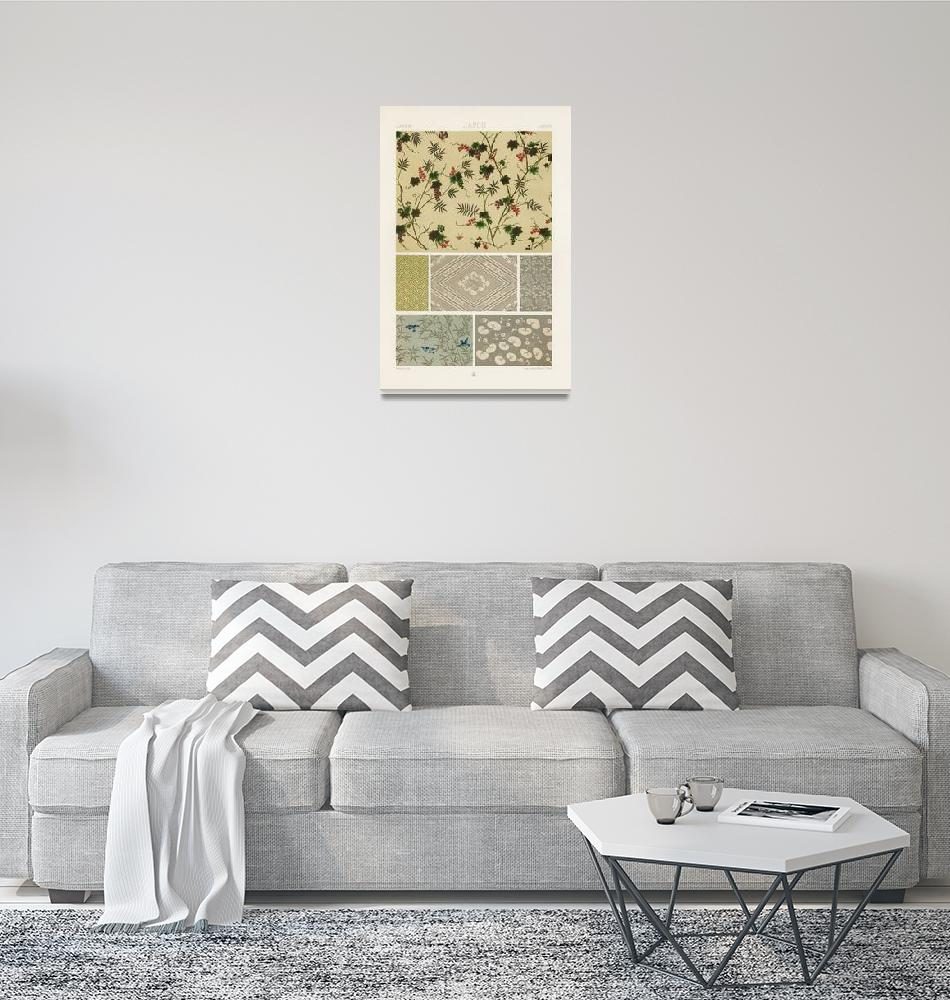 """""""Japanese Pattern by Albert Racinet""""  by FineArtClassics"""