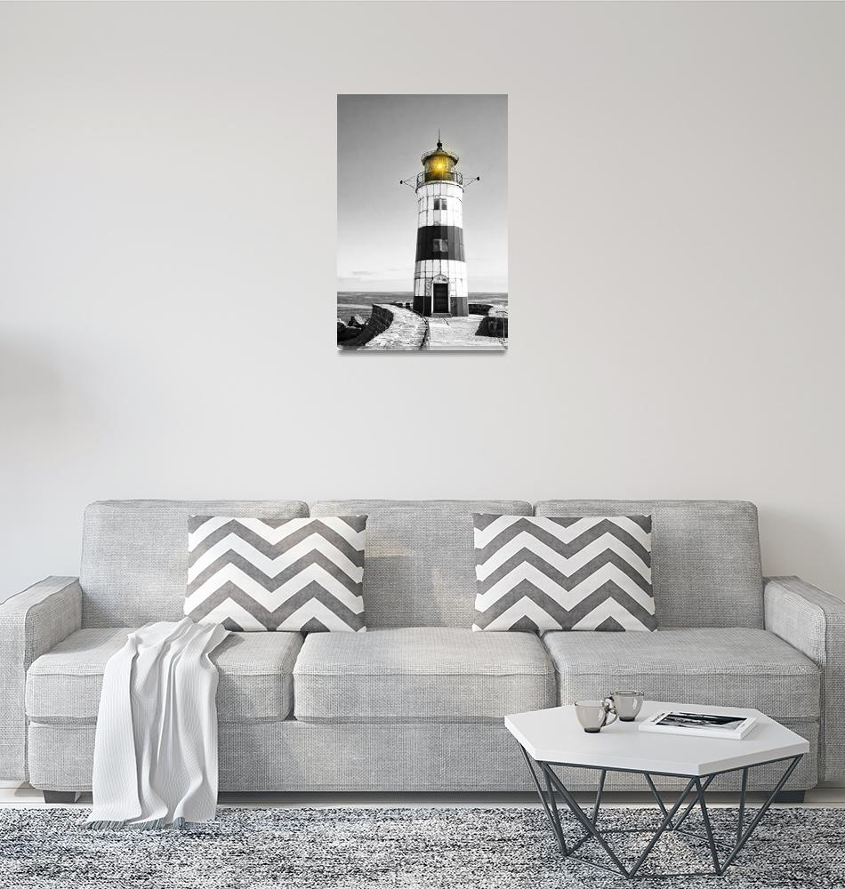 """Lighthouse Schleimünde on the Baltic Sea""  by Fraenks"