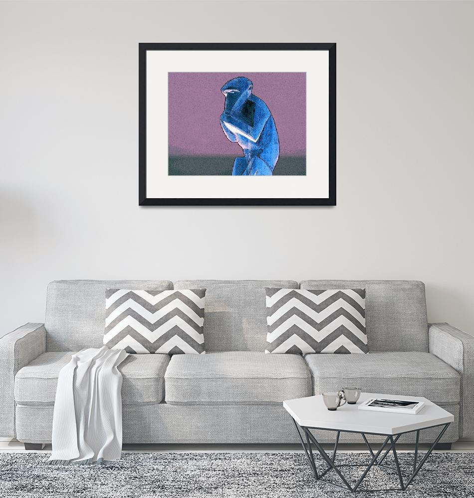 """""""Pink and Blue Monkey""""  (2010) by DavidGal"""