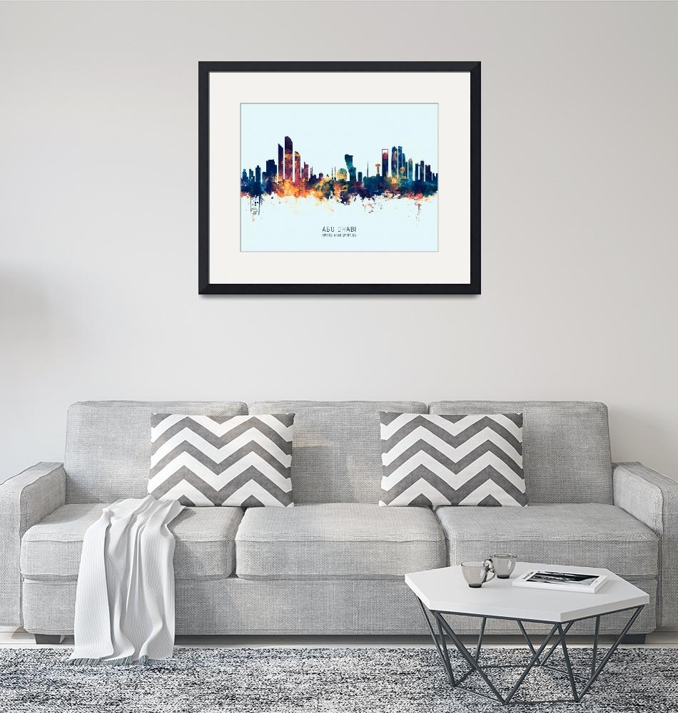 """Abu Dhabi Skyline"" (2019) by ModernArtPrints"