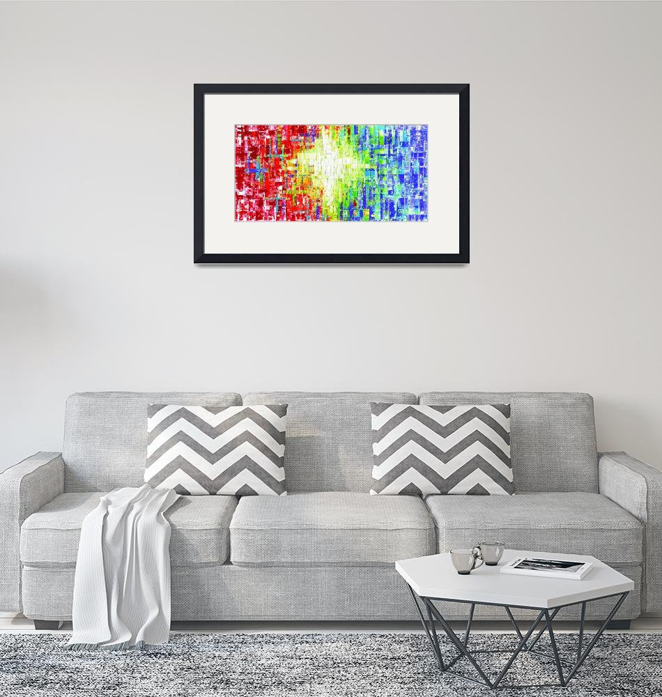 """Abstract Multicolored art""  (2015) by modernhouseart"