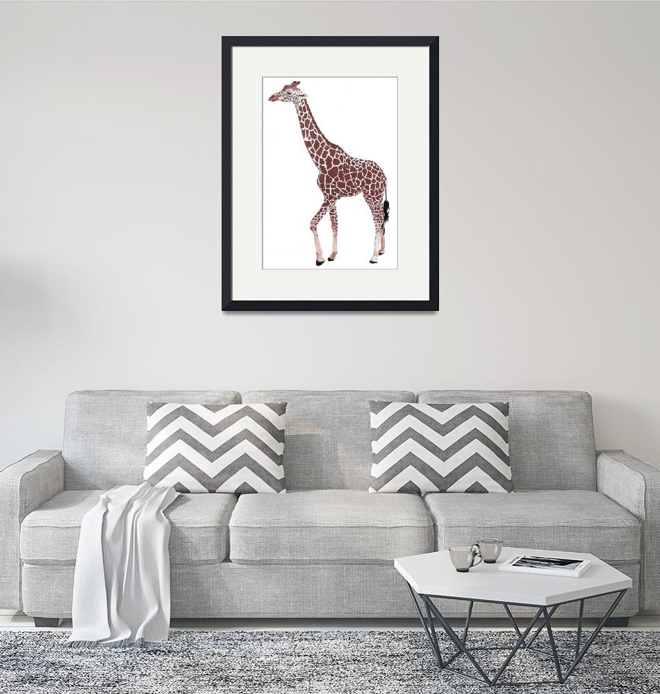 """Young Giraffe""  (2018) by GordRussellArt"