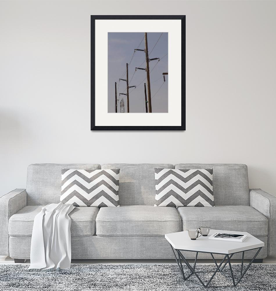 """""""115-kV Horizontal Post Polymer Transmission Line""""  (2012) by TheElectricOrphanage"""