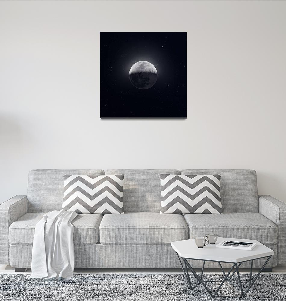 """Our Moon with Earthshine"" (2019) by cosmic_background"