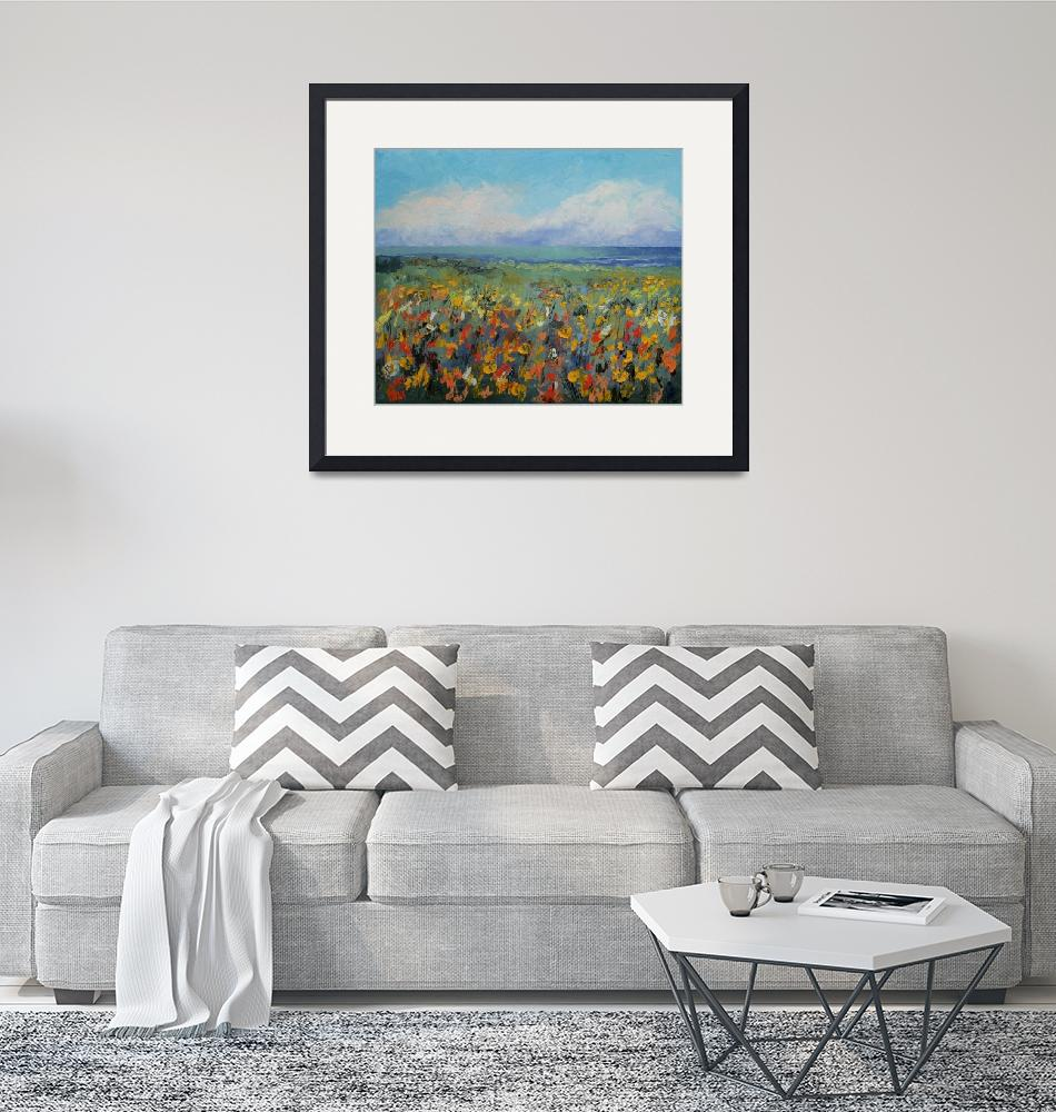 """""""Wildflower Seascape""""  by creese"""