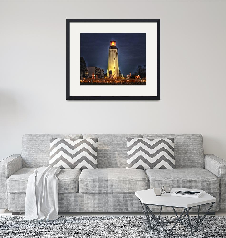 """""""Rehoboth Beach Lighthouse Holiday Decorations"""" by travel"""