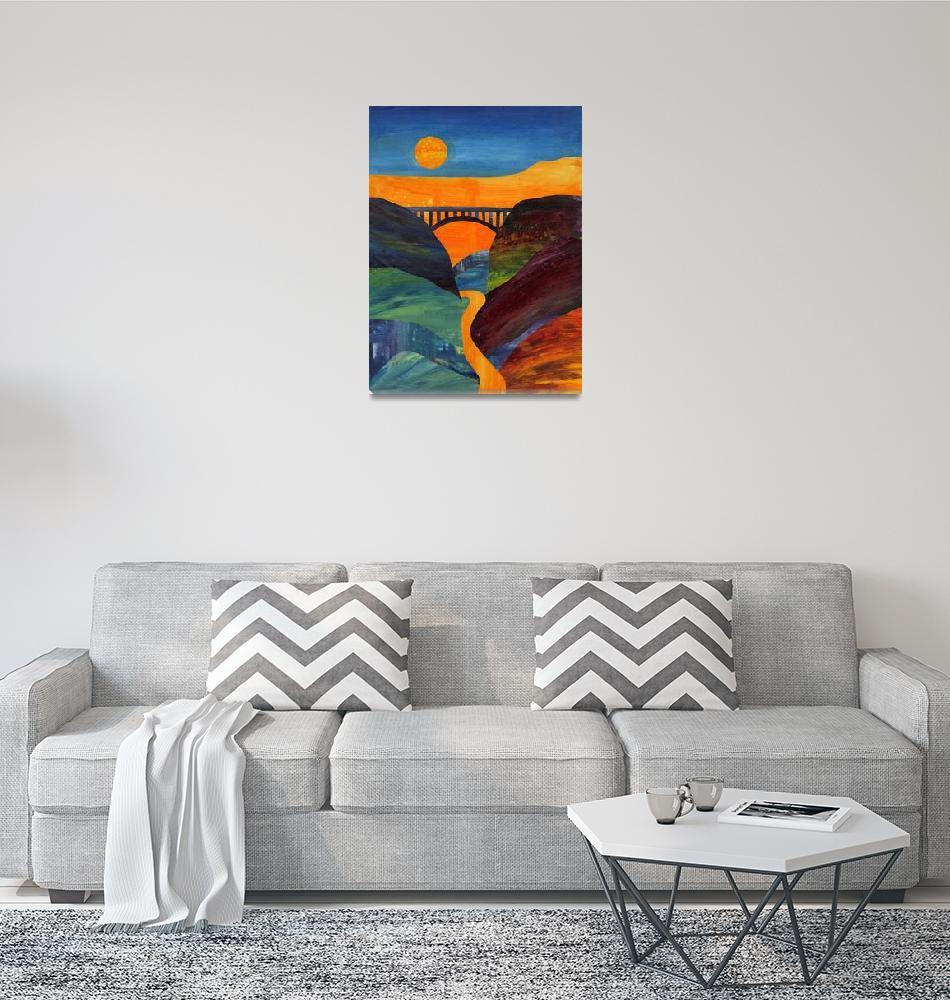 """New River Gorge Collage""  (2011) by gingerdanzart"