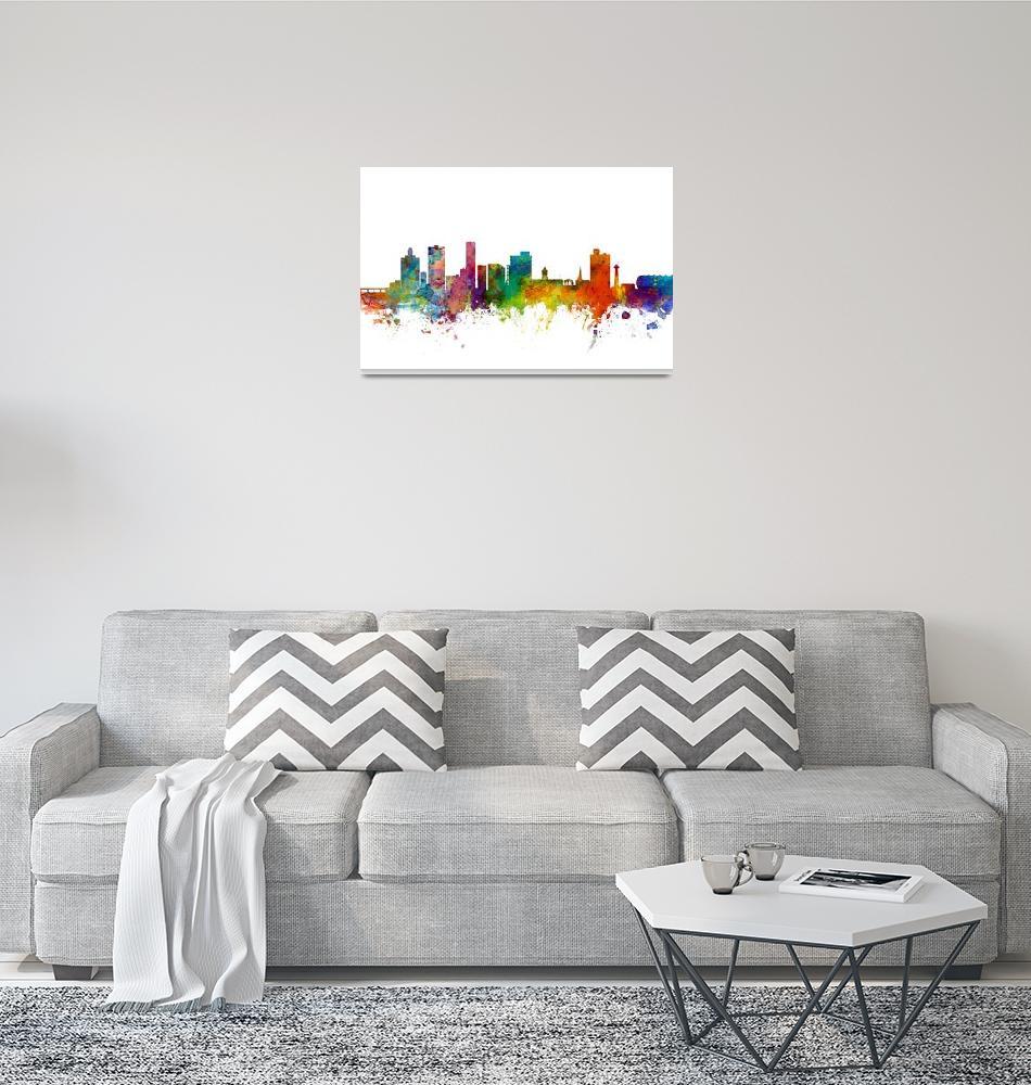 """Port Elizabeth South Africa Skyline""  (2015) by ModernArtPrints"
