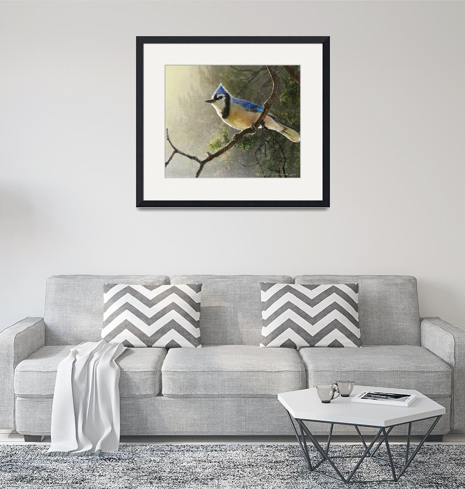 """early bird blue jay""  (2014) by rchristophervest"