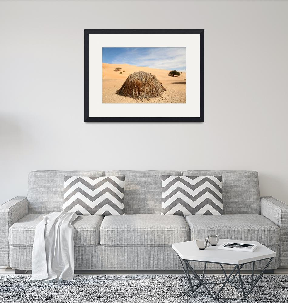 """""""Grass Hut in the Sahara""""  (2009) by AndreaMoorePhotography"""