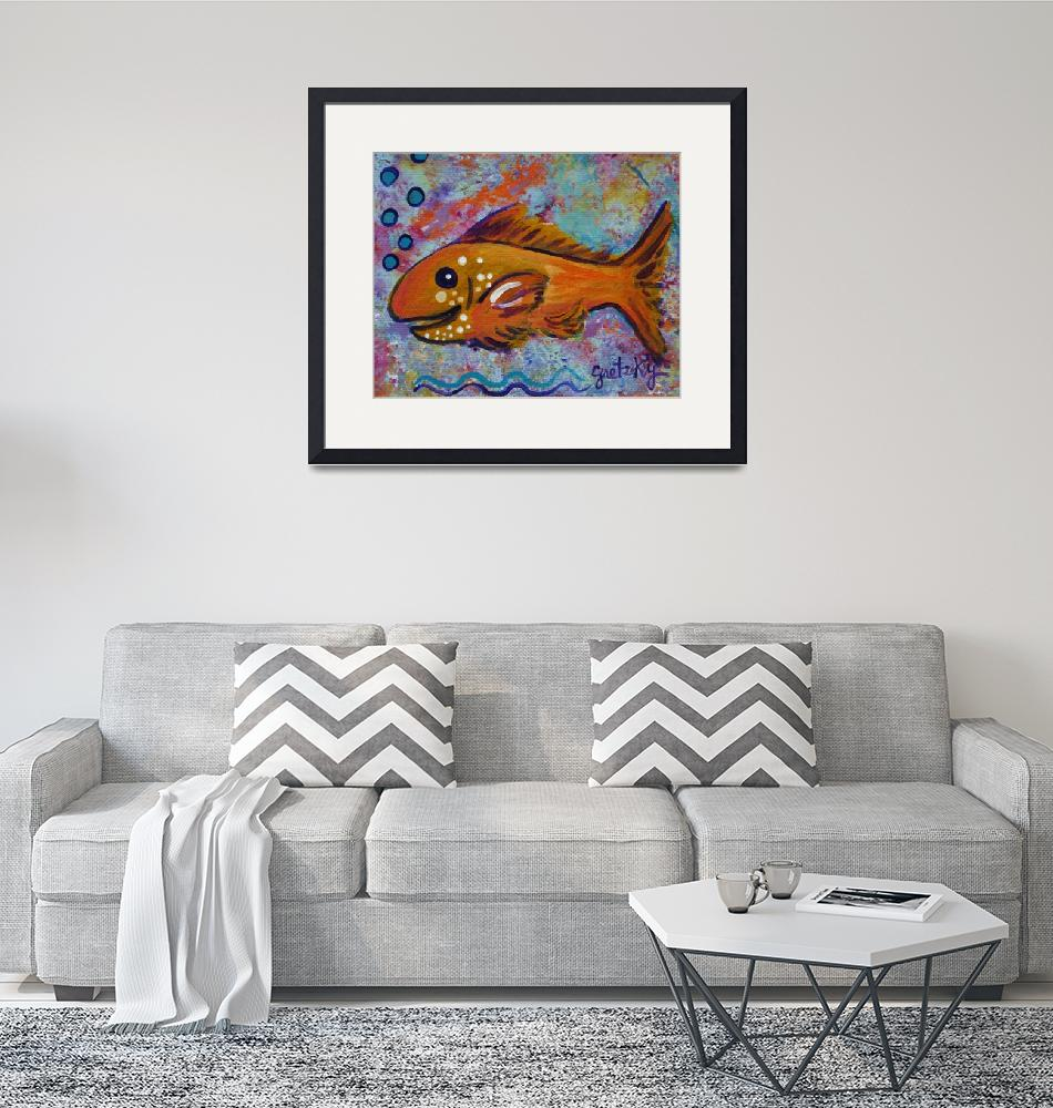 """""""Golden Fish""""  (2011) by paintingsbygretzky"""