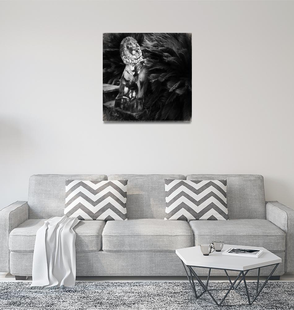 """Lions of Jekyll Island Georgia""  (2015) by GinetteCallaway"