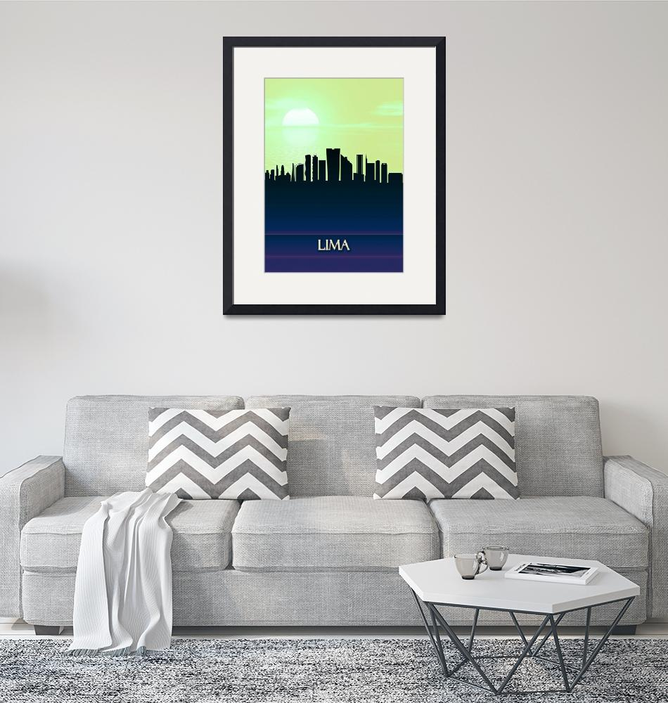 """""""Lima City Skyline""""  by Towseef"""