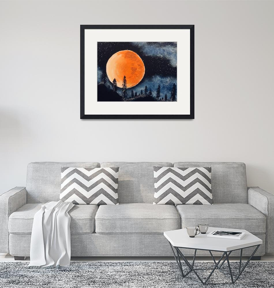 """TAHOE RED MOON""  (2019) by SoberArt"