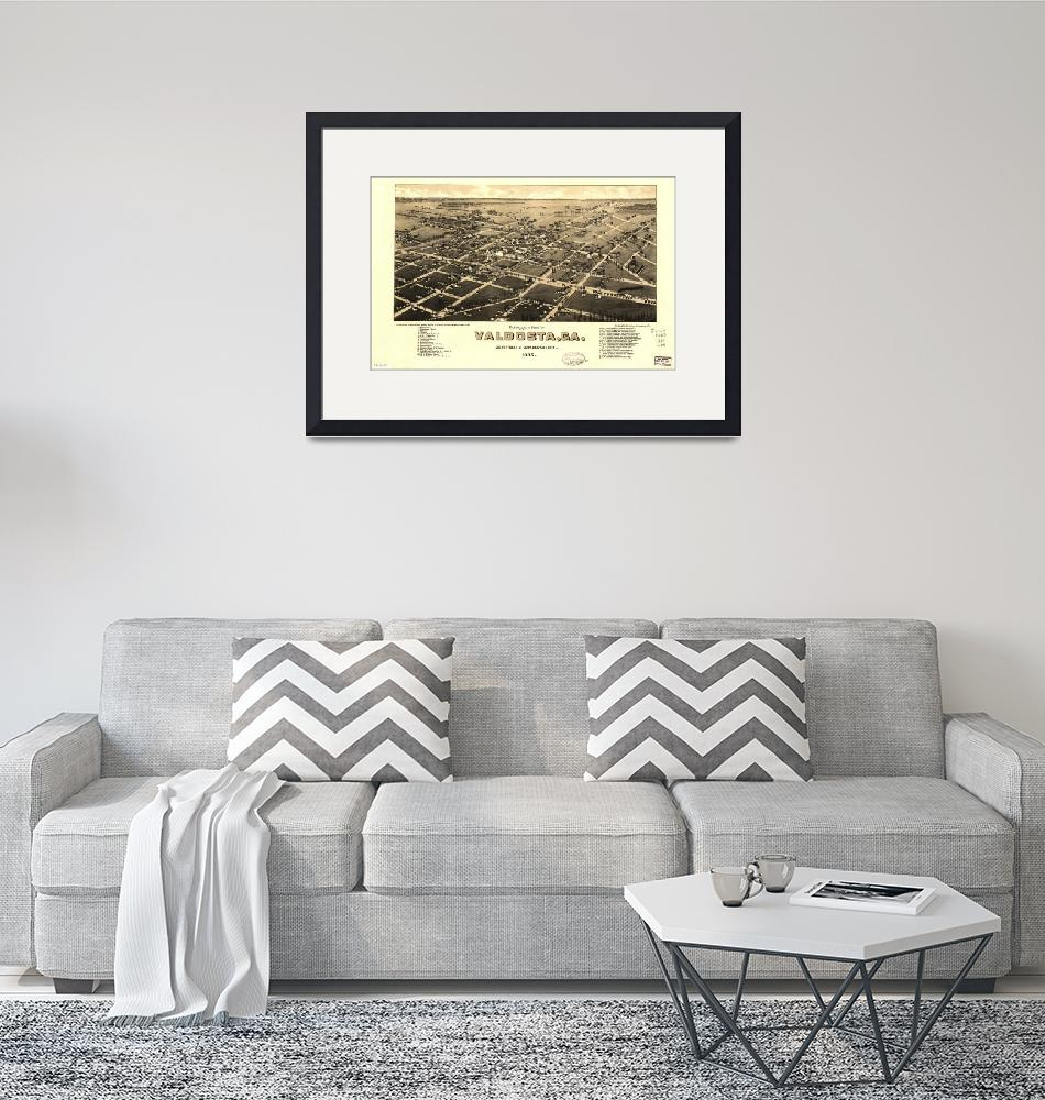 """Map--Georgia--Valdosta. 1885""  by ArtistiquePrints"