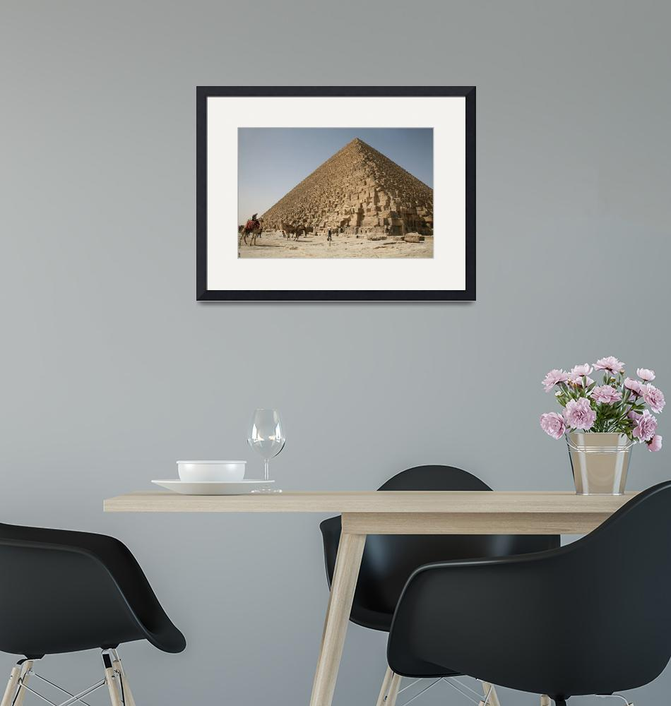 """""""Camels at the Pyramids""""  (2008) by DonnaCorless"""