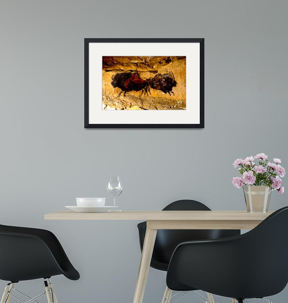 """""""2 Buffalo Lascaux Cave SE France Cropped""""  (2014) by TheNorthernTerritory"""
