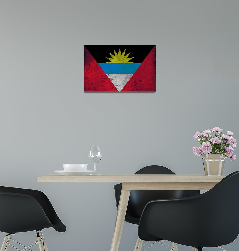 """ANTIGUA AND BARBUDA-FLAG""  (2014) by thegriffinpassant"