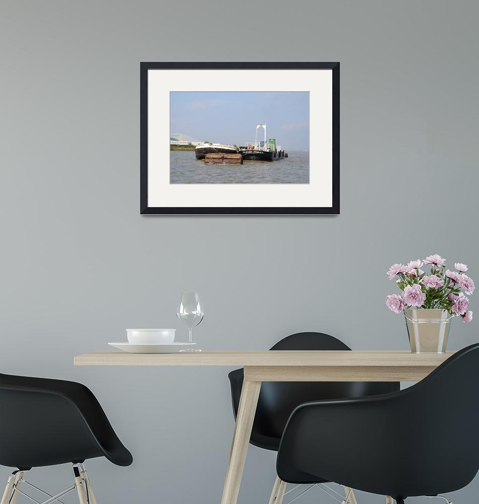"""""""Barges Moored On The River Thames""""  (2012) by malcolmsnook"""