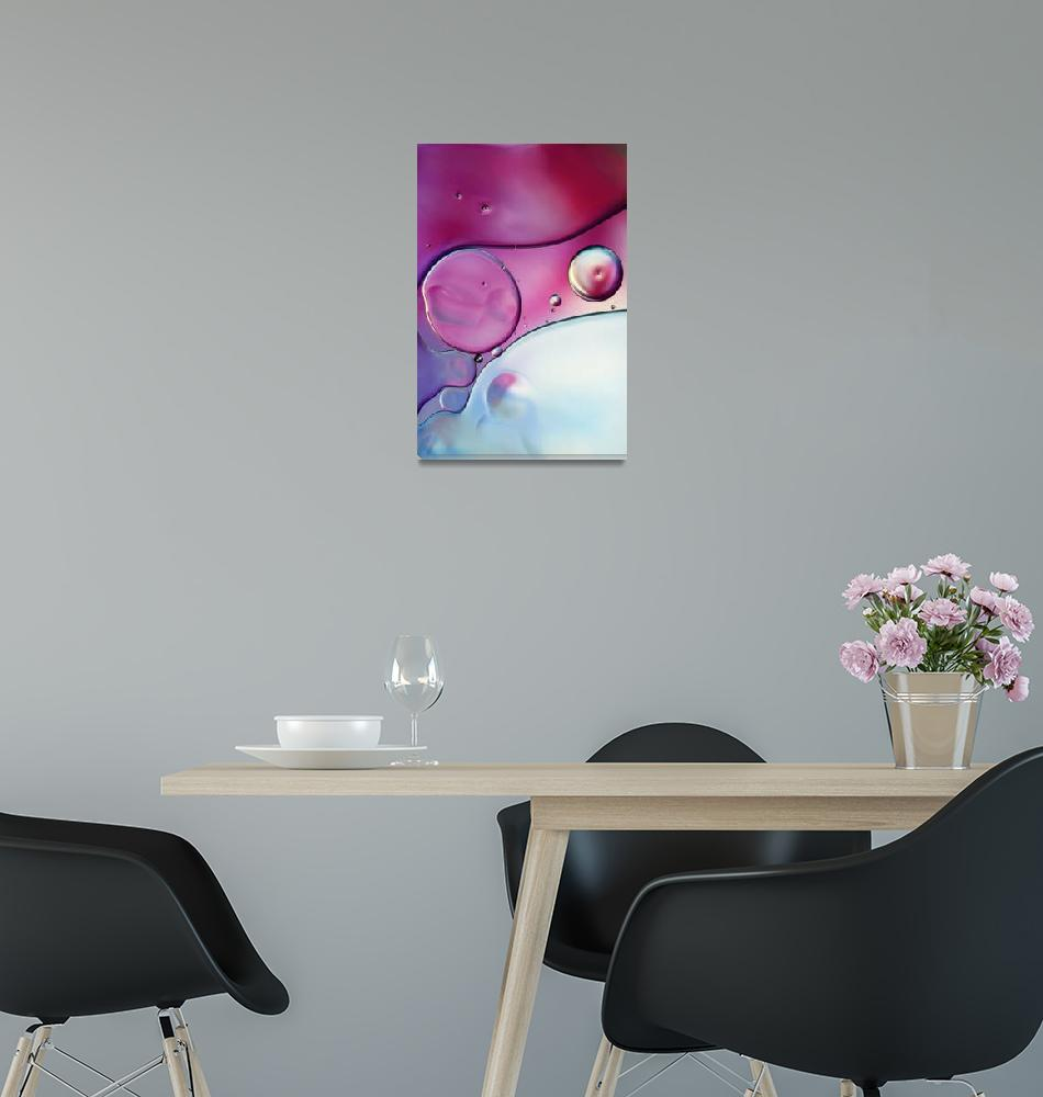 """""""Passion Pink Bubble Abstract""""  (2012) by SJohnstone"""