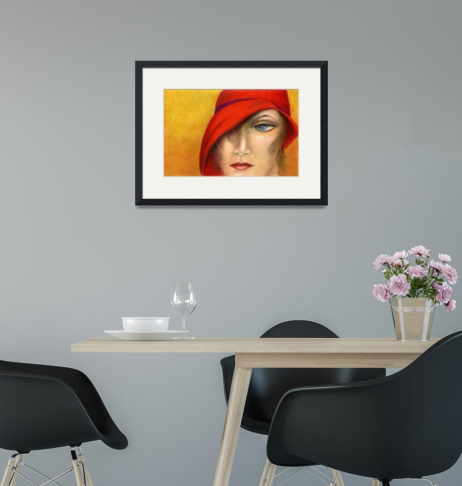 """""""The Red Cloche""""  (2010) by AlmaLee"""