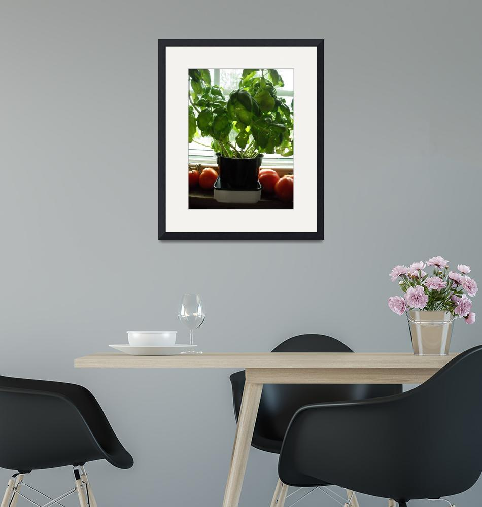 """""""Garden Basil and Tomato""""  (2010) by crazyabouthercats"""