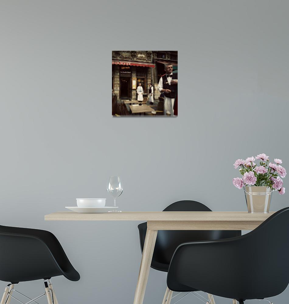 """Restaurant in Brussels, Belgium""  (2011) by johnbragg"