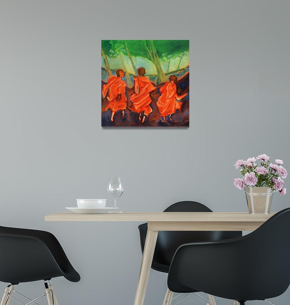 """Three Monks""  by ClydeYoshida"