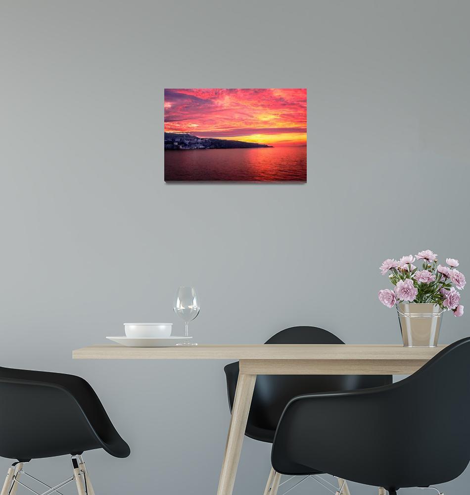 """Sorrento Sunset""  (2010) by mjphoto-graphics"