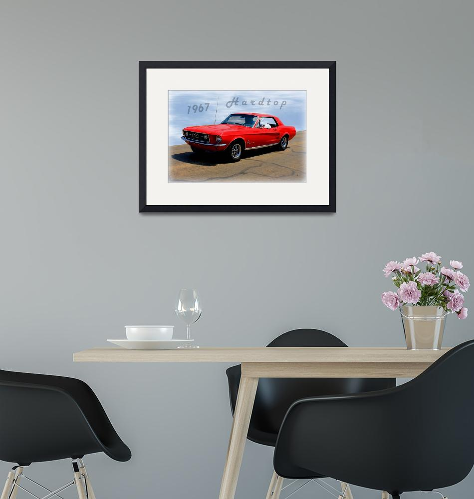 """""""1967 Ford Mustang Hardtop""""  (2014) by bettynorthcutt"""