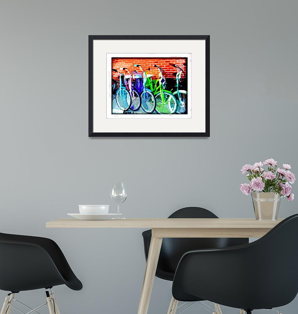 """""""Bikes""""  (2009) by MBloomArt"""