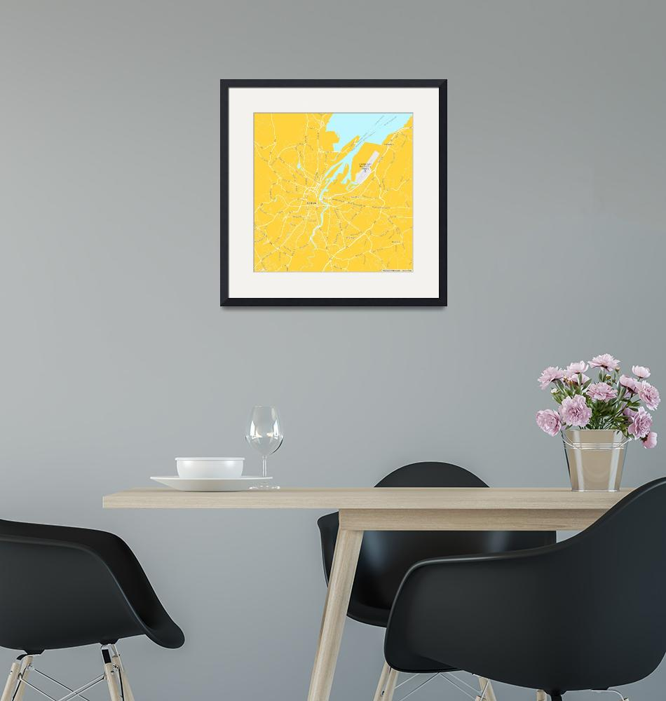 """Minimalist Modern Map of Belfast, Ireland""  by motionage"