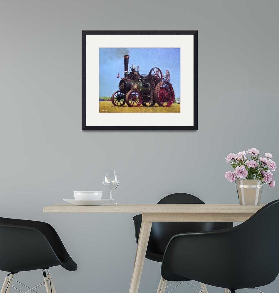 """""""steam traction engine Ransomes Sims and Jefferies"""" (2011) by martindavey"""