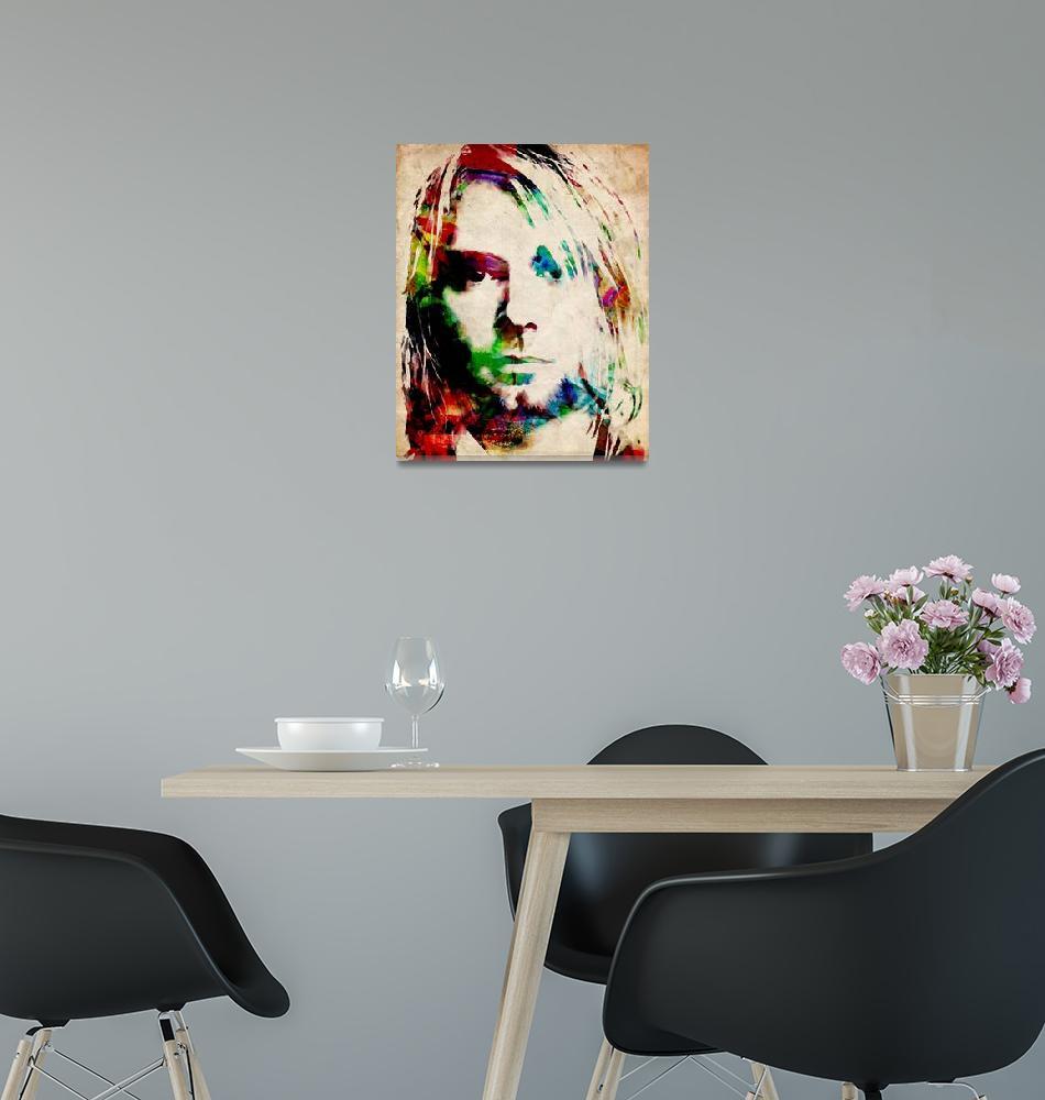 """Kurt Cobain Urban Watercolor""  (2009) by ModernArtPrints"