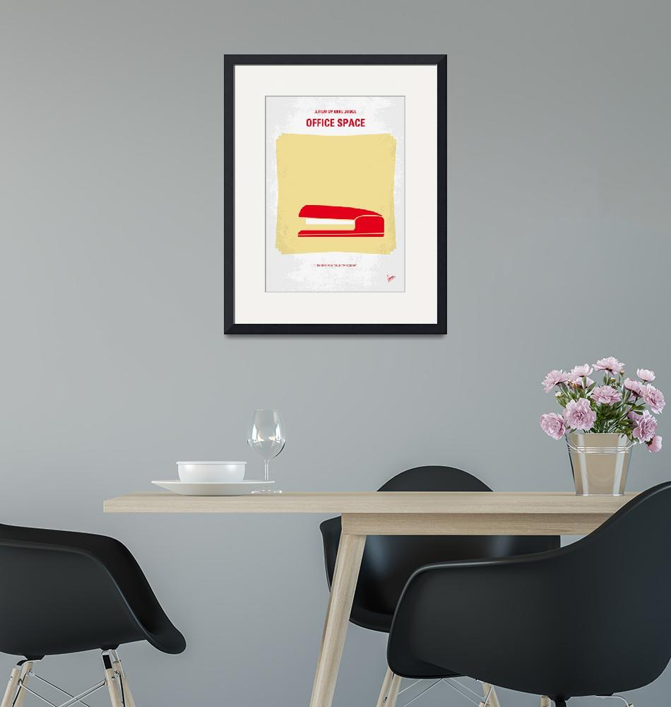 """No255 My OFFICE SPACE minimal movie poster""  by Chungkong"