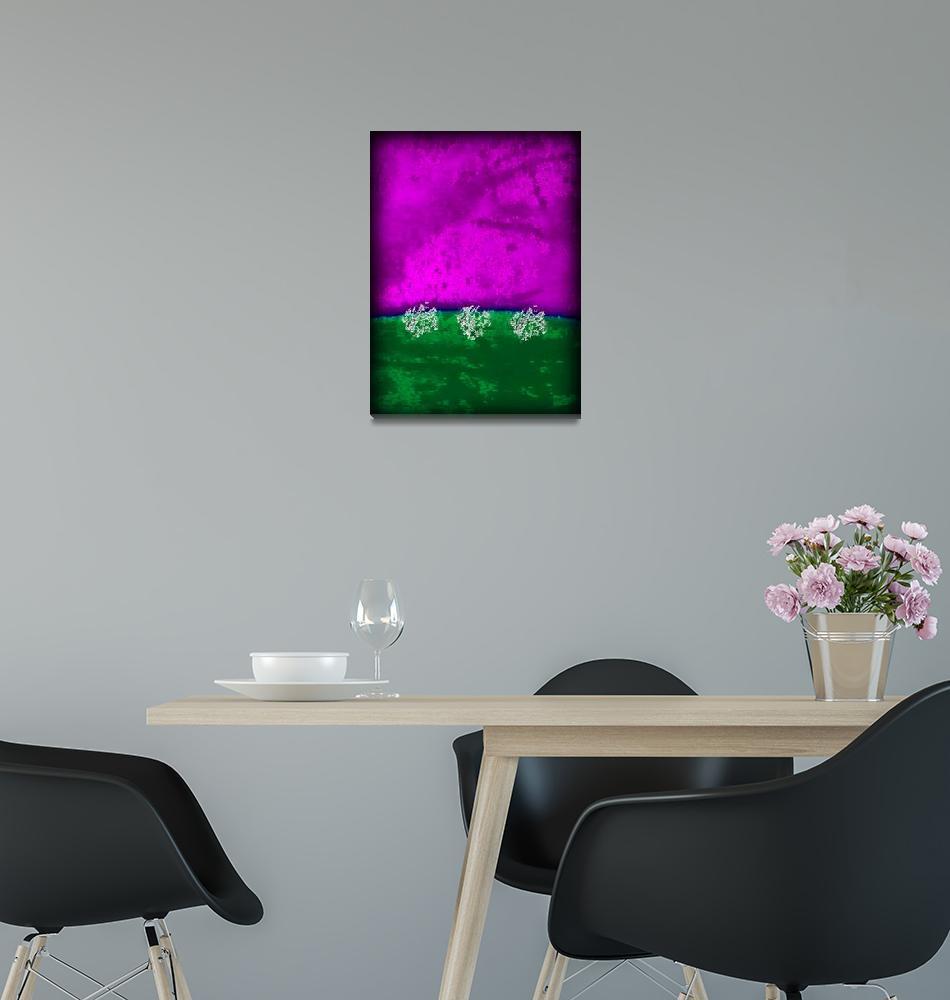 """purple grass 3 silver"" by ModernMarvel"