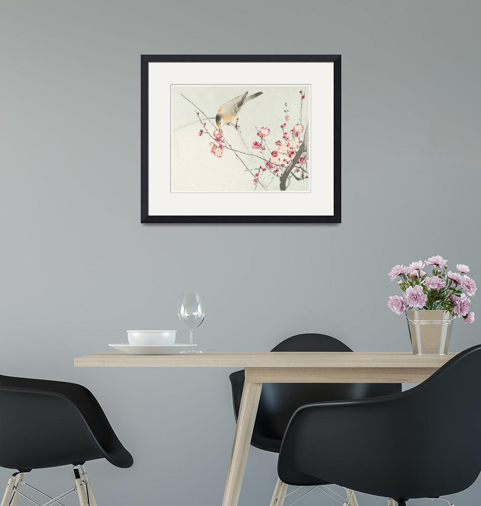 """""""Songbird on Blossom Branch by Ohara Koson""""  by FineArtClassics"""