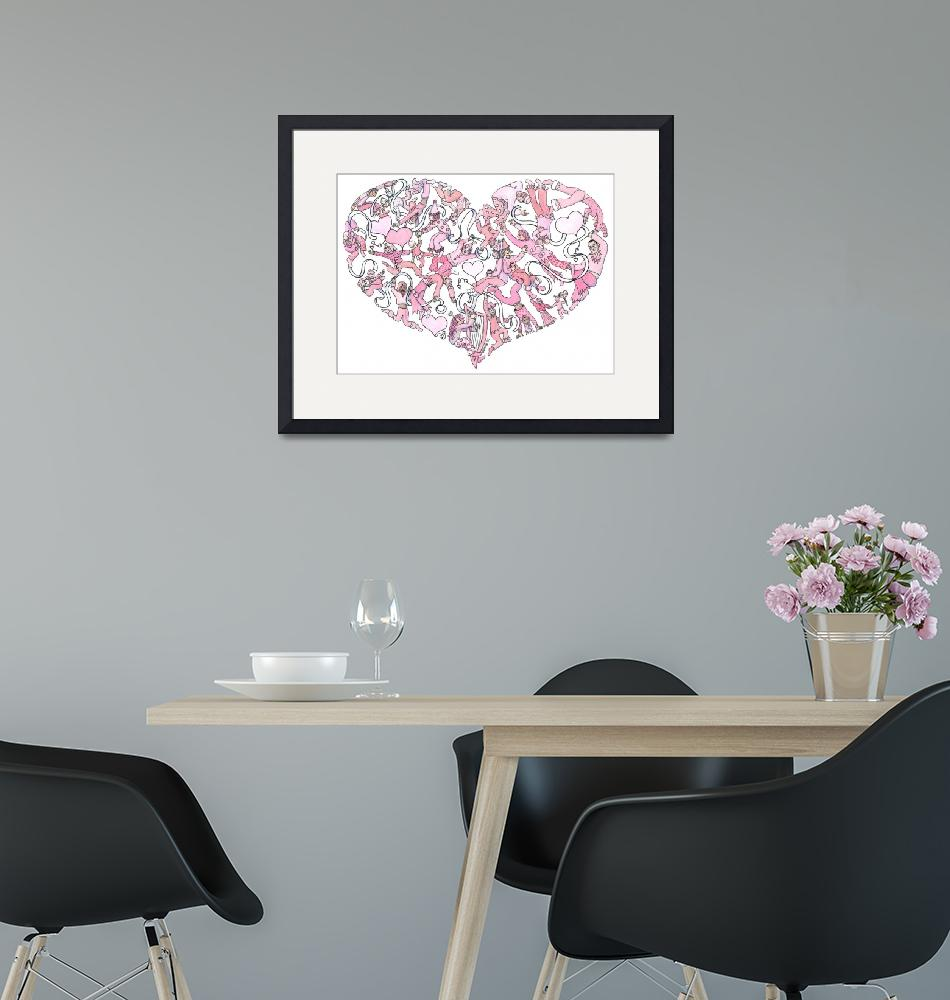 """""""Whimsical Pink Heart""""  (2005) by createdcreating"""
