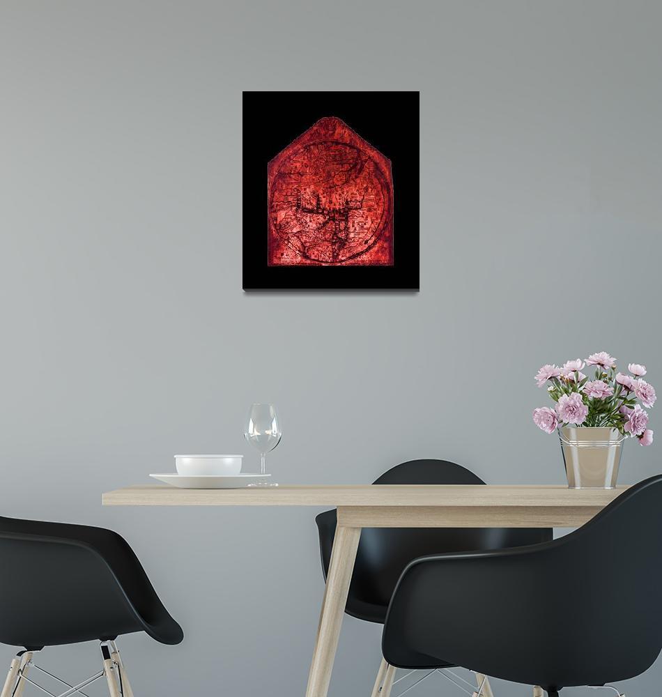"""Hereford Mappa Mundi Reddish Brown Largest Black B""  (2014) by TheNorthernTerritory"