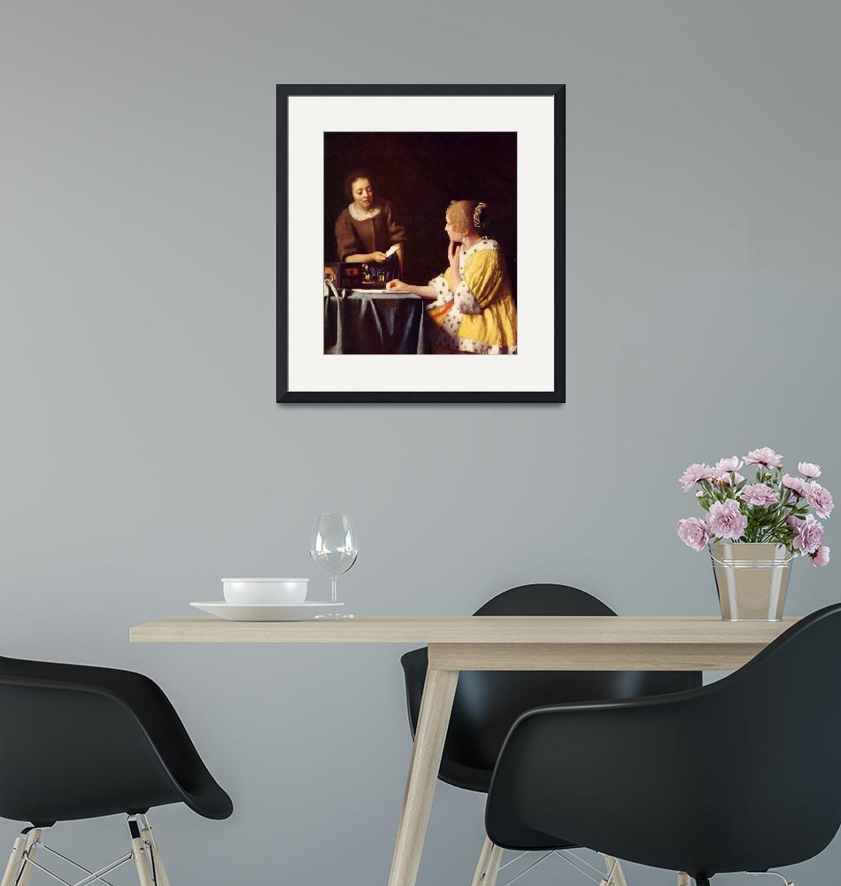 """""""Mistress and maid by Vermeer""""  by ArtLoversOnline"""