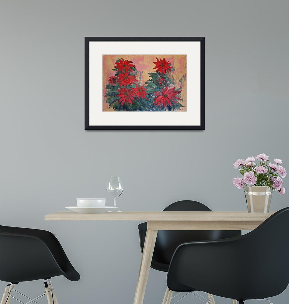 """""""Red Poinsettias by George Wood""""  (1979) by KsWorldArt"""