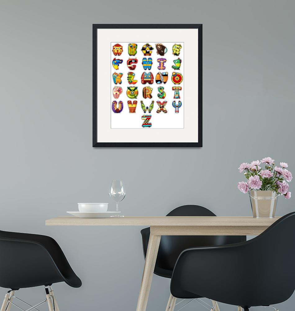 """""""Super Alphabet Poster (No background)""""  (2011) by MikeCressy"""