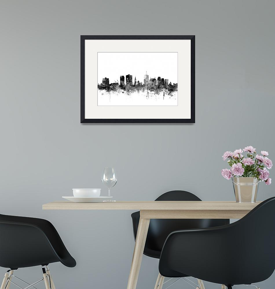 """Christchurch New Zealand Skyline"" (2015) by ModernArtPrints"