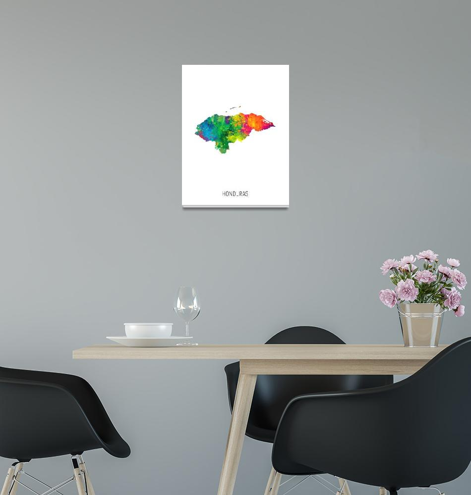 """""""Honduras Watercolor Map""""  (2019) by ModernArtPrints"""
