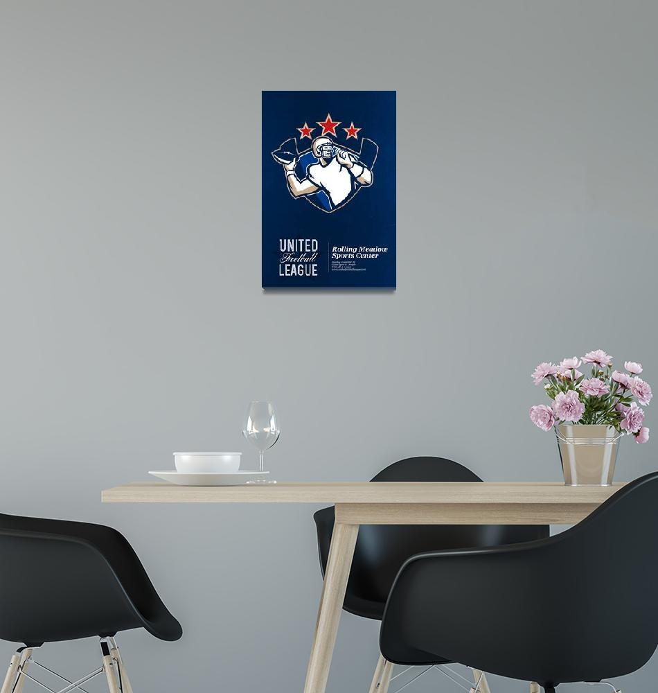 """United Gridiron Football League Poster""  (2013) by patrimonio"